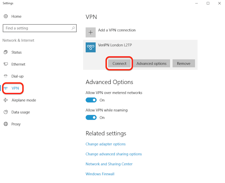 How to configure Windows 10 for l2tp step 4