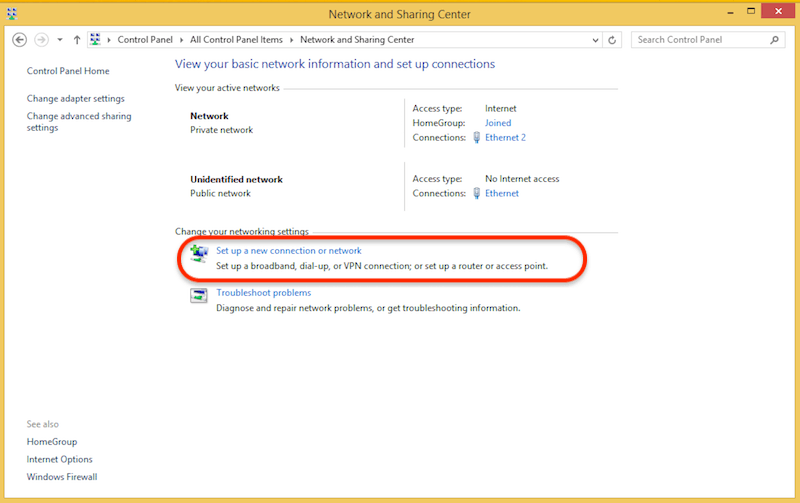 How to configure Windows 8 for l2tp step 2