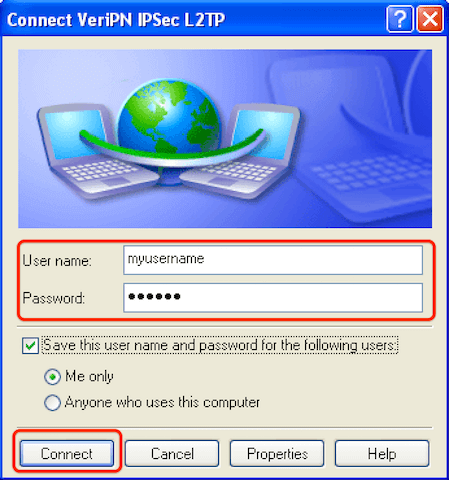 How to configure Windows XP for l2tp step 11