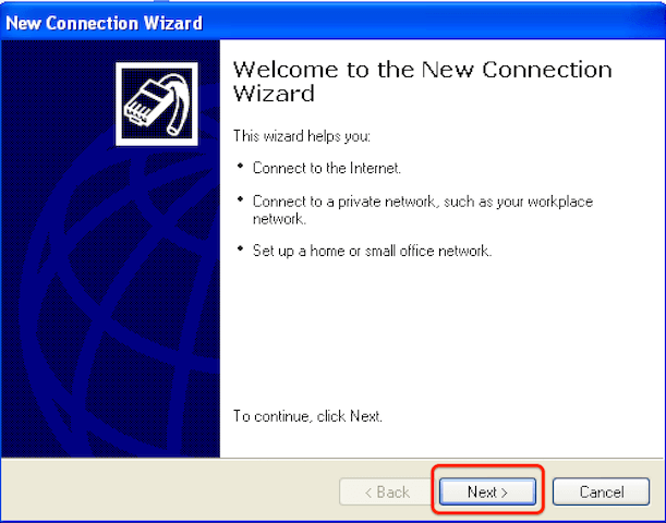 How to configure Windows XP for l2tp step 2