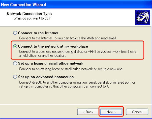 How to configure Windows XP for l2tp step 3